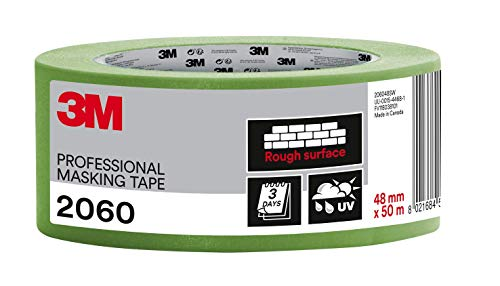 3M 2060 Profi Malerband für grobe Oberflächen, UV-beständig, innen und außen, 48 mm x 50 m