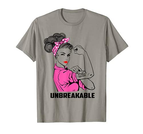 Camiseta irrompible de guerrero del cáncer de mama regalo de conciencia Camiseta