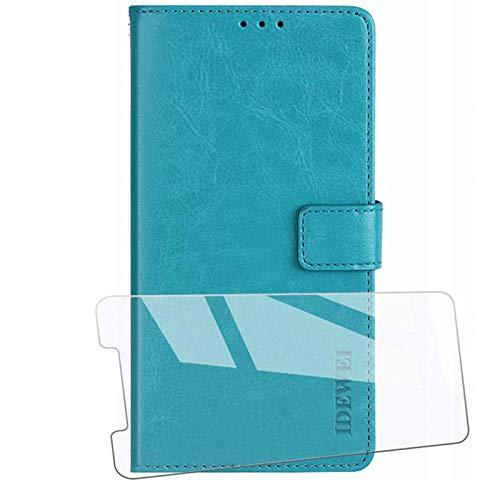 HYMY Hülle für UMIDIGI A3 Pro + Schutzfolie - Klassische Schlichtheit PU Lederhülle Flip Schutzhülle mit Brieftasche Card Slot Handyhülle Leder Hülle für Umidigi A3 Pro (5.7