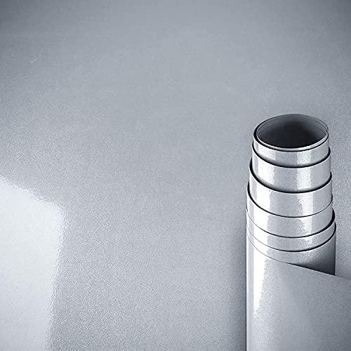 AWNIC Carta Adesiva per Mobili Pellicola Effetto Glitter Grigio/Mobili Adesivi Impermeabili a Prova d'olio per Il Rivestimento di mobili/Armadio Tavolo Bagno Cucina Decorazione 300x40cm