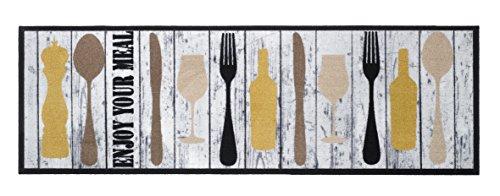 Küchenteppich - Küchenläufer - 10 verschiedene Motive - 30°C Waschbar - Rutschfest - 150 x 50 cm