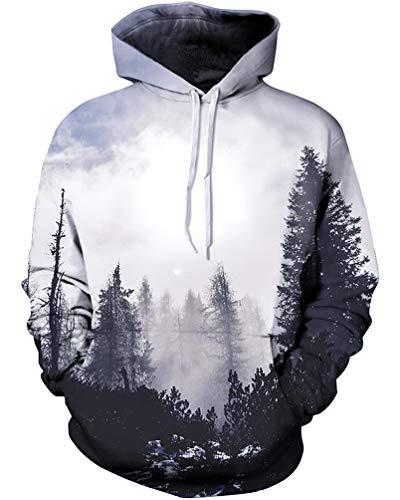 Sankill Unisex Harajuku Realistic 3d Digital Pullover Sweatshirt Hoodies Hooded Sweatshirt Pockets