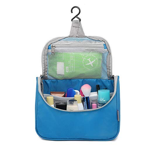 Mountaintop Toiletry Bag for Camping Travel Men Women Water-resistant with Hanging Hook, 7.1 x 2.4 x 9.3-Inch