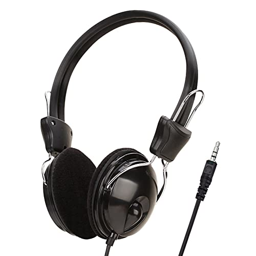 Fones de ouvido com cabo de 3,5 mm Fones de ouvido Staright, pode ouvir música, laptops, computadores, videogames, videogames