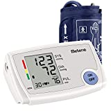 Metene Automatic Blood Pressure Monitor Digital Household Upper Arm Measuring, Accurate and Intelligence, Largre Arm Cuff and LCD Display with Pulse Rate