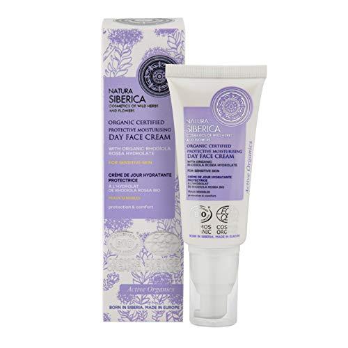 Natura Siberica Bio-zertifizierte schützende Feuchtigkeitscreme für empfindliche Haut, 50 ml 8727E