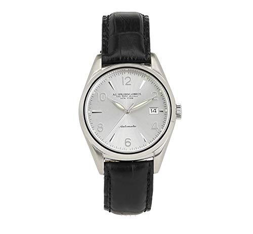 Orologio da polso Spalding & Bros A.G NEW PRINCE AUTOMATIC colore NERO movimento automatico Leather cuoio acciao 39 mm uomo man 174450