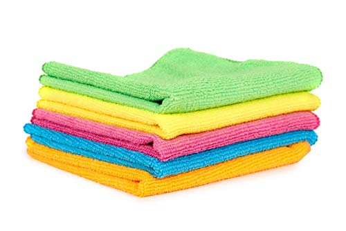 SWAMI- Microfiber Cloth, Multipurpose Cleaning Towel,Wipe for Home, Kitchen, Appliance, Car Cleaning (Pack of 3 pcs,30 cm x 30 cm) Very Attractive Soft Multicolour Towel