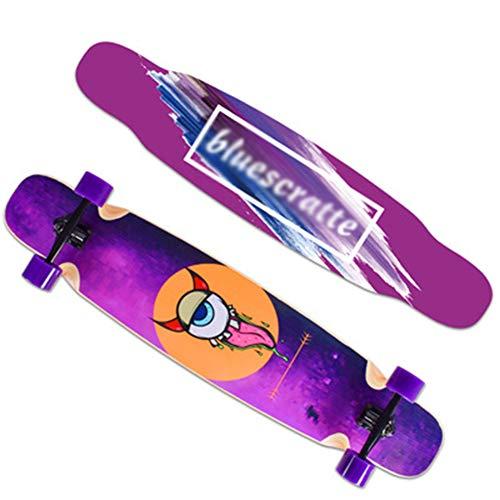 ROYWY Longboard Skateboard Drop Through Cruiser Komplettboard mit Mach1 High Speed Kugellager T-Tool mit und ohne Rollen/C