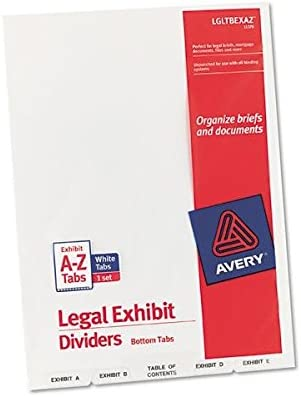 Avery Consumer Products AVE11376 Legal Popular standard Ranking TOP6 Bottom Exhibit Dividers-