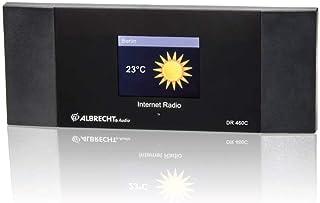 Albrecht DR 460 C internetradio-adapter met kleurendisplay voor aansluiting op de stereo-installatie, Zwart