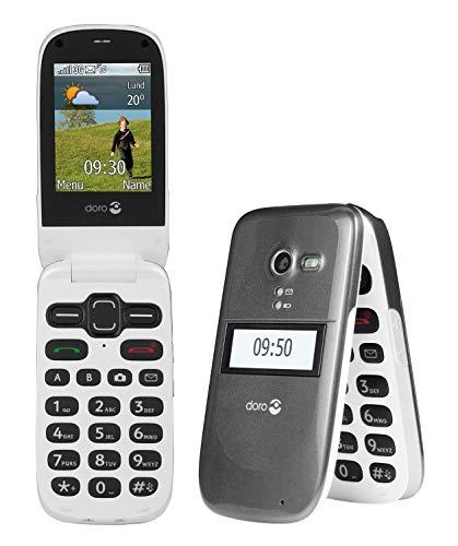 Doro PhoneEasy 613 Mobiltelefon im eleganten Klappdesign (2 Megapixel Kamera, große Tasten & Bildschirm, Notruftaste)