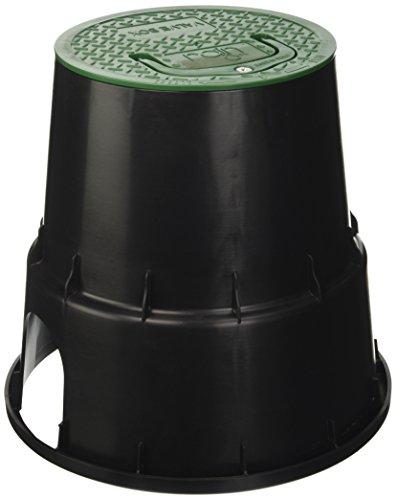 Rain 8650110001 Pozzetto Circolare Con Coperchio in Plastica Resistente Agli Urti, colore Nero/Verde