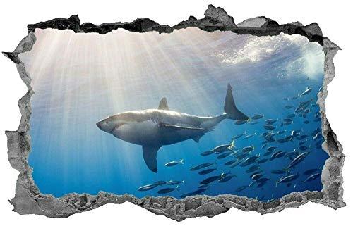 LHHYY Pegatinas dePared Mar, submarino, escena, pez, pegatina, 3d, vida marina, mural, calcomanía, arte de la pared, pegatinas de arte de pared, calcomanía mural para niños
