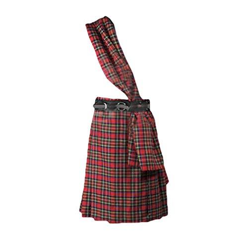 Nouveau Choix Écossais Cuir Kilt Sporran Noir Jacobites coin Piquer Avec Ceinture