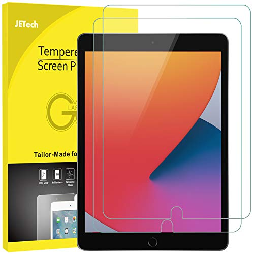 JETech Screen Protector for iPad 8/7 (10.2-Inch, 2020/2019, 8th / 7th Generation), iPad Air 3 (10.5-Inch, 2019) and iPad Pro 10.5 (2017), Tempered Glass Film, 2-Pack