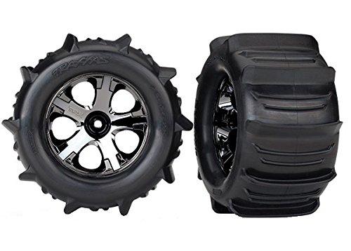 Traxxas 4175Stampede Paddle Reifen und Räder serienmäßig und montiert (Paar)