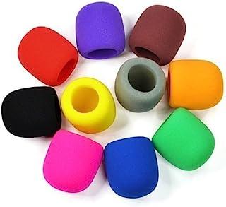 NYKKOLA 10 Pack Colors Handheld Stage Microphone Windscreen Foam Mic Cover Karaoke DJ