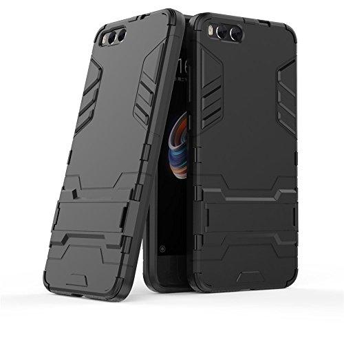 Funda Xiaomi Mi Note 3, GOGME [Tough Armor Series] Robusta Anti-Arañazos Panel trasero + Parachoques TPU a prueba de choques + Soporte plegable, Negro