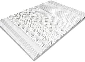 IDMarket - Surmatelas Mousse mémoire de Forme 10 Zones 140X190 cm