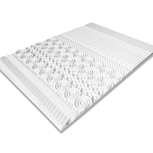 IDMarket - Surmatelas Mousse mémoire de Forme 10 Zones 160X200 cm