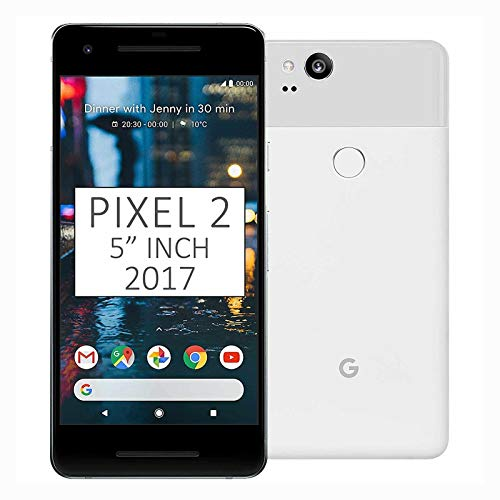 Google Pixel 2 64 GB Unlocked Smartphone for All GSM Carriers Worldwide, Clearly White (Renewed)