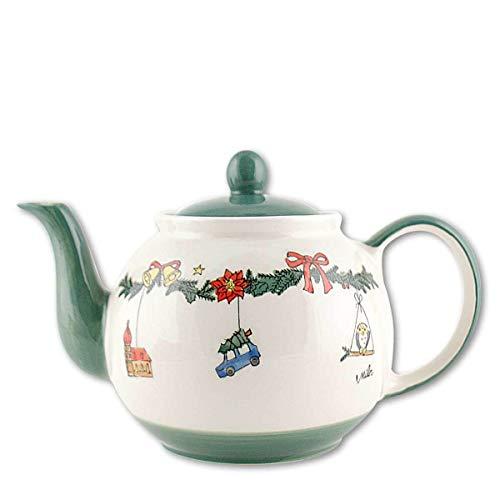 440s Mila Keramik-Teekanne, Weihnachtszauber, ca. 1,2 Liter - MI-94188