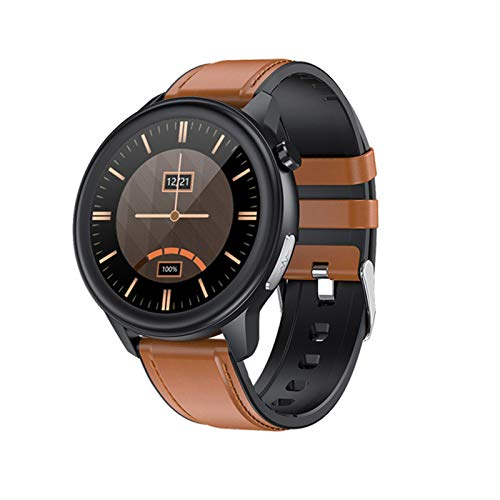 ZRY Relojes Inteligentes para Mujer y Hombres, IP68 Temperatura Impermeable Monitor de presión Arterial Monitor de Deportes Fitness Reloj Inteligente Larga batería Life para Android iOS,B