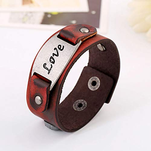 KUANGLANG Fashion Leather Bracelets Women Men Punk Vintage Bangles Hand Jewelry Accessories Lovers Gift