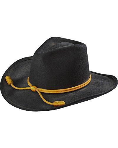 RESISTOL Men's John Wayne Hondo Cavalry Hat Black X-Large