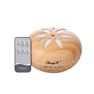 Humidificador Ultrasónico 550ml,Aceites Esenciales Difusor de Aromaterapia Control Remoto -7 Colores+4 Temporizador-Para la Habitación del Bebé/SPA/Yoga/Masaje/Oficina,Etc (A)
