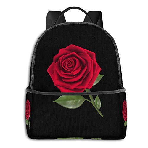 Unisexo Mochila,Rose PNG Student Bag, Elegantes Bolsos De Viaje para Adultos Que Viajan Escalando,37cm(H) x30.5cm(W)