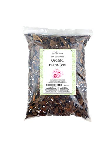 Orchid Potting Mix, Hand Blended All Natural Potting Soil Media for Orchid Plants, Fast Draining Healthy Media for Planting or Orchid Repotting- 4qts
