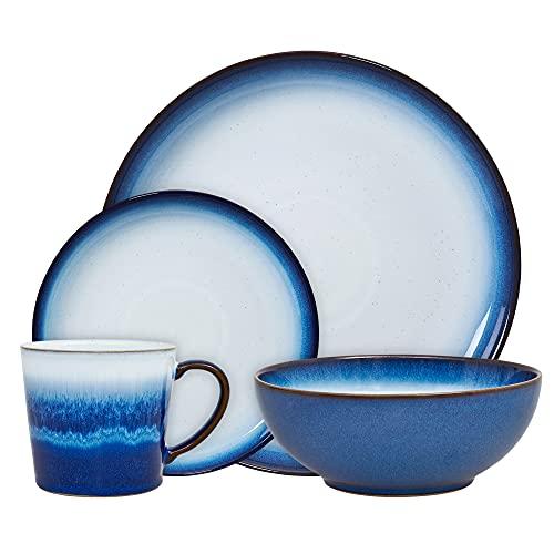 Denby Blue Haze - Vajilla de 4 piezas