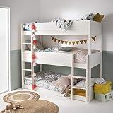Alfred & Compagnie - Juego de litera triple y colchón (90 x 200 cm), color blanco