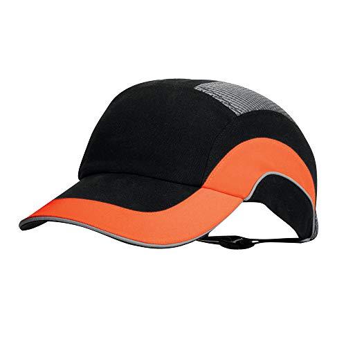 Hardcap A1+ 7cm Long Peak - Black/Hi-Vis Orange (JSP ABR000-00N-500)