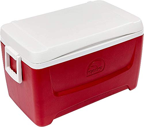 Igloo Island Breeze 48 Quart Cooler (Lava Red, 25.562 x 14.062 x 14.125-Inch)