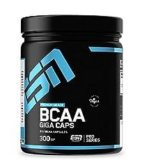 ESN BCAA Giga Caps - 300 kapsułek - wysokiej jakości aminokwasy rozgałęzione - 25 porcji treningowych - 350 g - wegańskie - Made in Germany