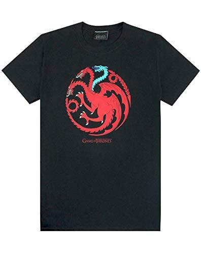 Vanilla Underground Game of Black T-Shirt Thrones Ghiaccio e del Fuoco Draghi Emblem Uomo