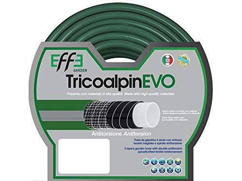 Tubo da Giardino antitorsione professionale 1/2 pollici, mt 25 di Tubo da Giardino 5 strati, Tubo per Irrigazione da Giardino, Made in Italy