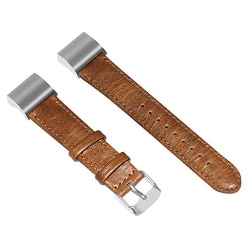 NIUQY Luxuxleder-Armband-Bügel-Ersatzbänder Kompatibel mit/Ersatz für Fitbit-Ladung 2 Einstellbare kompatibel Gerät aufrüsten klassischen Uhrendesign Ausverkauf