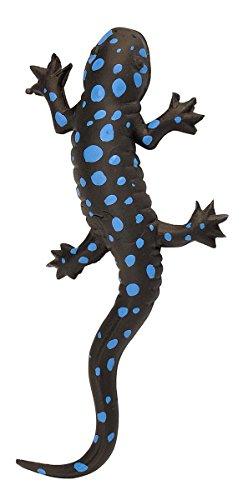 Wild Republic 20761 Gummisalamander Blauflekken-Molch Echse 20 cm, zwart/blauw