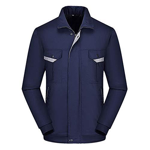 Sicherheitsjacke, Winter Warmer Arbeitsmantel Multifunktions Für Männer Und Frauen, Mit Reißverschluss Und Taschen, Bomberjacke, High...