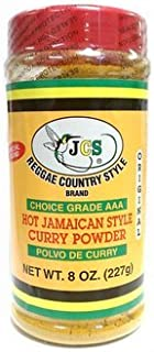 JCS Reggae Style Hot Jamaican Style Curry Powder in 8 oz Bottle