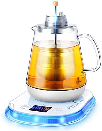 Theemaker Glas Kokende Theepot Automatische Gezondheid Pot Elektrische Kokende Theepot voor Zwarte Thee Pu er (Upgrade)