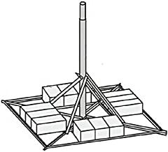 """JRM27505 Non-Penetrating Mount with 2.88"""" OD x .203"""" Wall x 5.0' Mast"""
