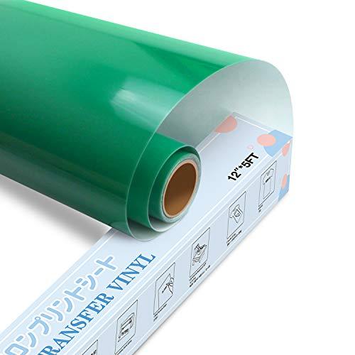 YRYM HT Premium Plotter pellicola tessile 30,5 cm x 152,4 cm pellicola flessibile per ferro da stiro di magliette e altri tessuti (verde)