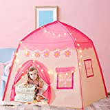 Gentle Monster Kids Play Tent Playhouse Indoor & Outdoor, Princess Castle Tent with Star Lights, Toys for 2+ Year Old Girl Birthday Gift,