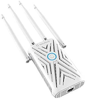 WAVLINK AC1200 WiFi Extender,Covers Up to 1200sq.ft and 20 Devices Up to 1200Mbps| Dual Band WiFi Range Extender | WiFi Signal Booster to Extend Range of WiFi Internet Connection
