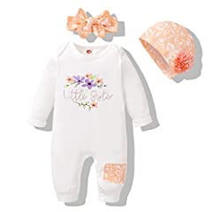 ❀Material---Cotton fabric for baby rompers girl, super soft and breathable to wear in fall winter days, friendly to baby's skin, very stretch and comfortable, cares for newborns too. ❀Adorable Baby Clothes Girl--- Long sleeve baby romper, delicate Li...